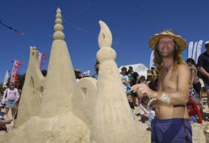 Steve Matchell the sand sculptor.