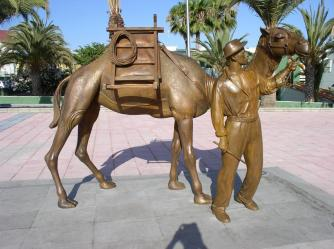 Bronze sculpture of camel by Etual.