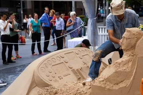 A block of sand is our master artist blank canvas which they will turn into magic.