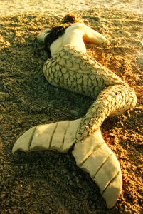 Lifelike mermaid.