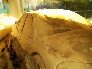 Life-size V8 car.