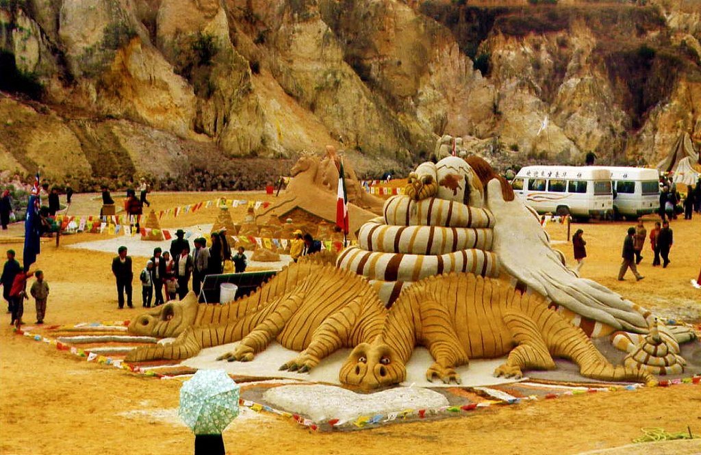 Dennis' sand  sculpture at China.