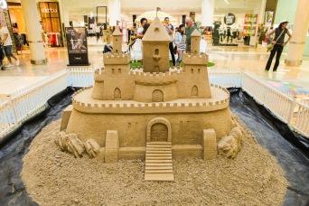 Castle in shopping center.
