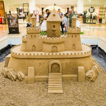 Castle in shopping center.
