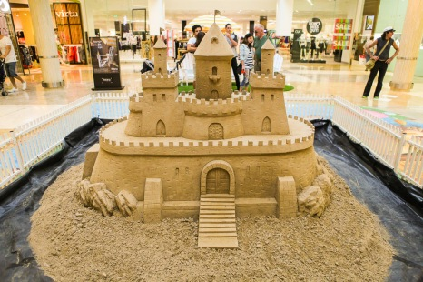 A hard compaction sand sculpture.