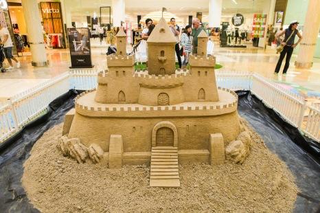 A hard compaction sand sculpture.