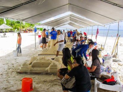 Sand sculpting workshops for adults.